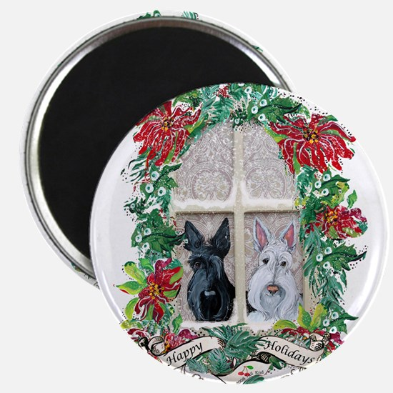 Scottie Terrier Holiday Magnet