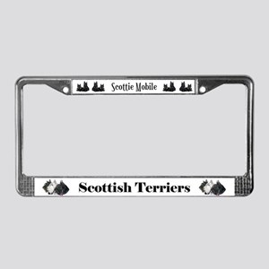 Scottie Terrier Holiday License Plate Frame