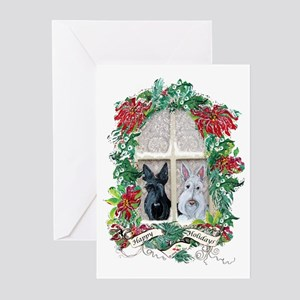 Scottie dog greeting cards cafepress scottie terrier holiday greeting cards pk of 20 m4hsunfo