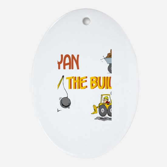 Ryan the Builder Oval Ornament
