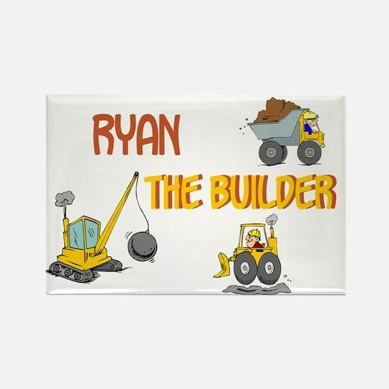 Ryan the Builder Rectangle Magnet