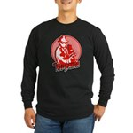 Long Sleeve Dark Red Panda T-Shirt