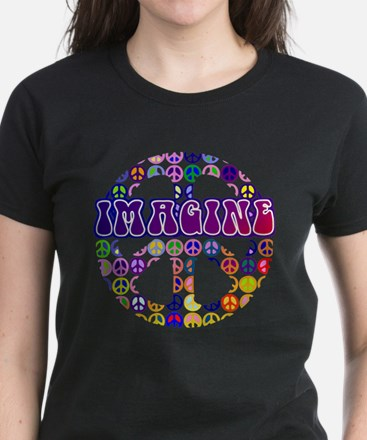 Imagine Peace Women's Dark T-Shirt
