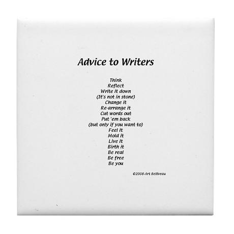 Advice to Writers--Tile Coaster