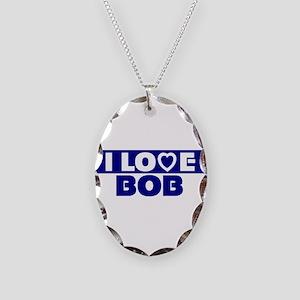 I love Bob Necklace Oval Charm