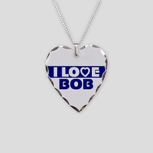 I love Bob Necklace Heart Charm