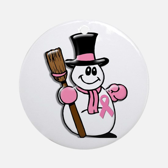 Holiday Snowman 1.1 Ornament (Round)