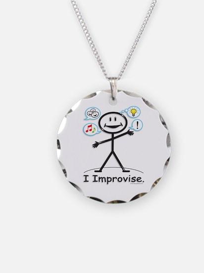 Improve comedy stick figure Necklace