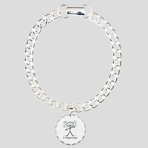 Improve comedy stick fig Charm Bracelet, One Charm