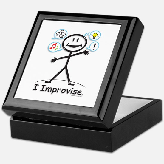 Improve comedy stick figure Keepsake Box