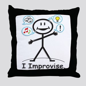 Improve comedy stick figure Throw Pillow