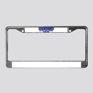 funny drinking License Plate Frame