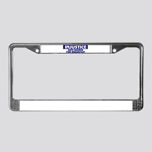 Political issues License Plate Frame