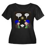 Train Tu Women's Plus Size Scoop Neck Dark T-Shirt
