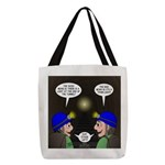 Train Tunnel and Caving Polyester Tote Bag