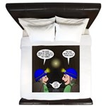 Train Tunnel and Caving King Duvet