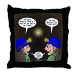 Train Tunnel and Caving Throw Pillow