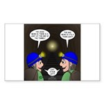 Train Tunnel and Caving Sticker (Rectangle 10 pk)