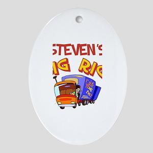 Steven's Big Rig Oval Ornament