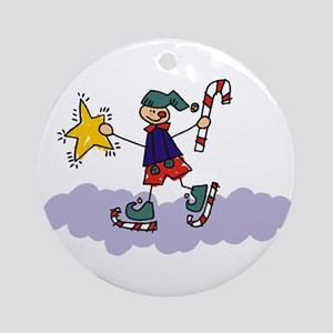 Child Ice Skating Ornament (Round)