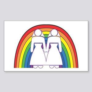 Gay Marriage (Female) Rectangle Sticker