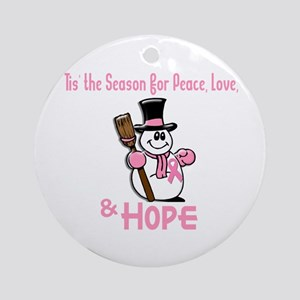 Holiday Snowman 1.2 Ornament (Round)