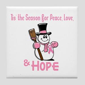 Holiday Snowman 1.2 Tile Coaster