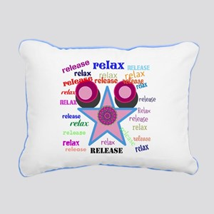 Relax and Release ! Rectangular Canvas Pillow