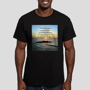 SERENITY PRAYER Men's Fitted T-Shirt (dark)