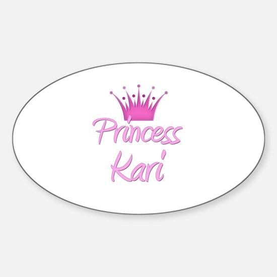 Princess Kari Oval Decal