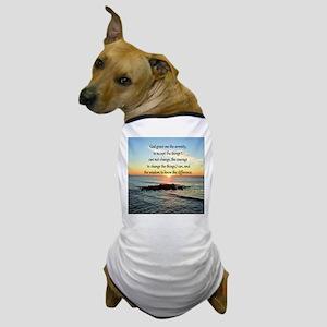 SERENITY PRAYER Dog T-Shirt