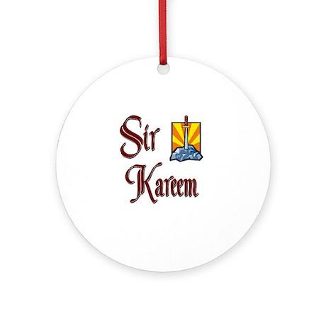 Sir Kareem Ornament (Round)
