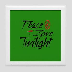 Peace, Love, Twilight Tile Coaster