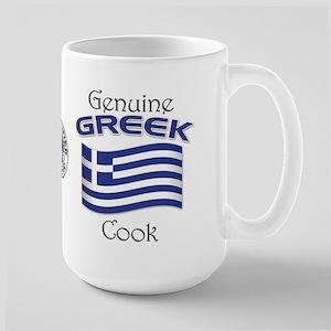 Genuine Greek Cook Large Mug