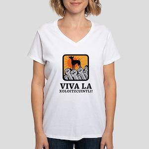 Xoloitzcuintli Women's V-Neck T-Shirt