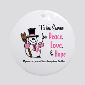 Holiday Snowman 1.3 Ornament (Round)