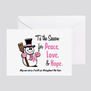 Holiday Snowman 1.3 Greeting Card