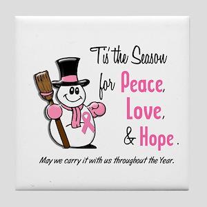 Holiday Snowman 1.3 Tile Coaster