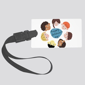 happy childrens day Large Luggage Tag