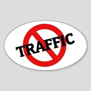 Anti Traffic Oval Sticker