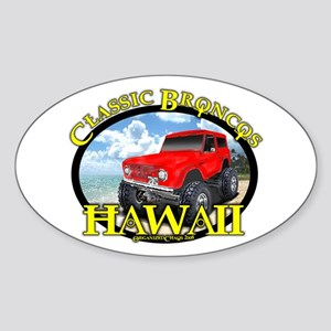 www.ClassicBroncosHawaii.Com Oval Sticker