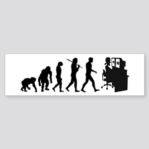 Film Editor Evolution Sticker (Bumper)