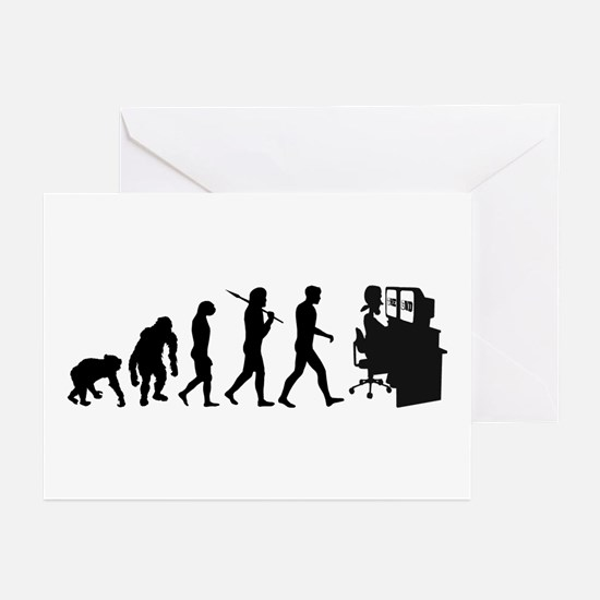 Film Editor Evolution Greeting Cards (Pk of 20)