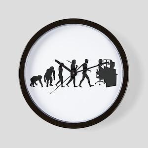 Film Editor Evolution Wall Clock