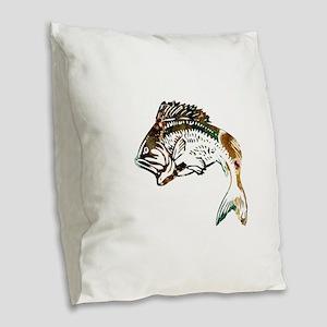 JUMP STRIKER Burlap Throw Pillow