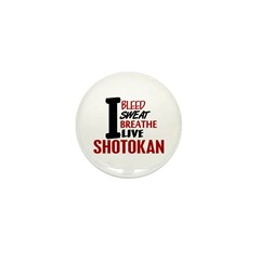 Bleed Sweat Breathe Shotokan Mini Button (10 pack)