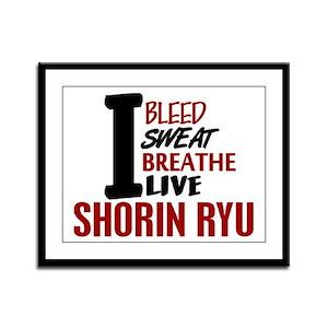 Bleed Sweat Breathe Shorin Ryu Framed Panel Print