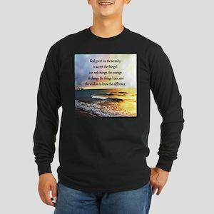 SERENITY PRAYER Long Sleeve Dark T-Shirt