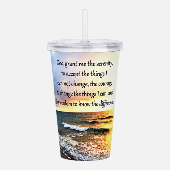 SERENITY PRAYER Acrylic Double-wall Tumbler