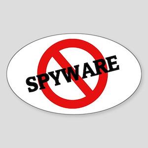 Anti Spyware Oval Sticker